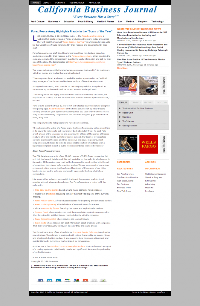 CAlifornia Business Journal