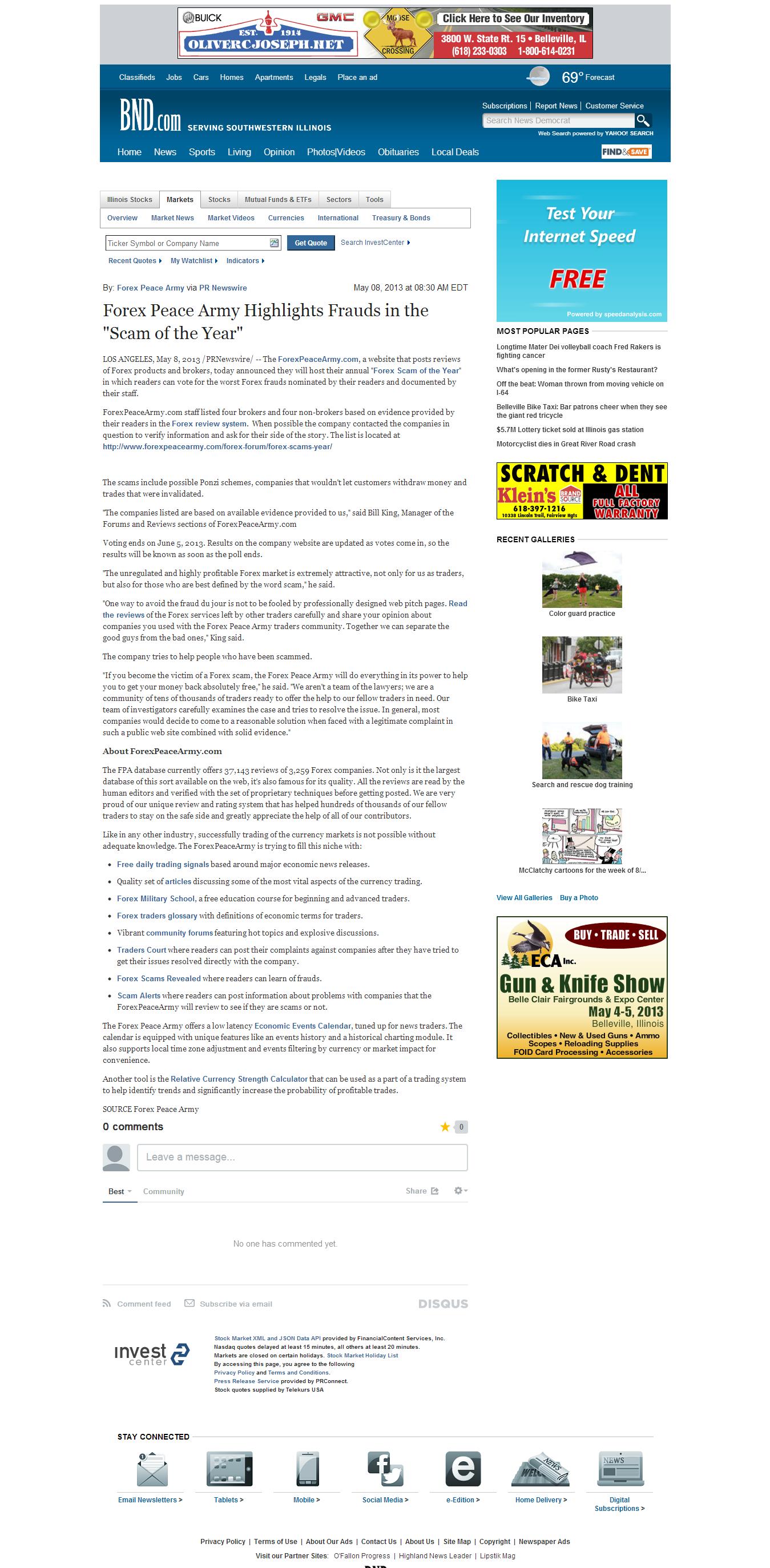 Forex Peace Army | Belleville News-Democrat