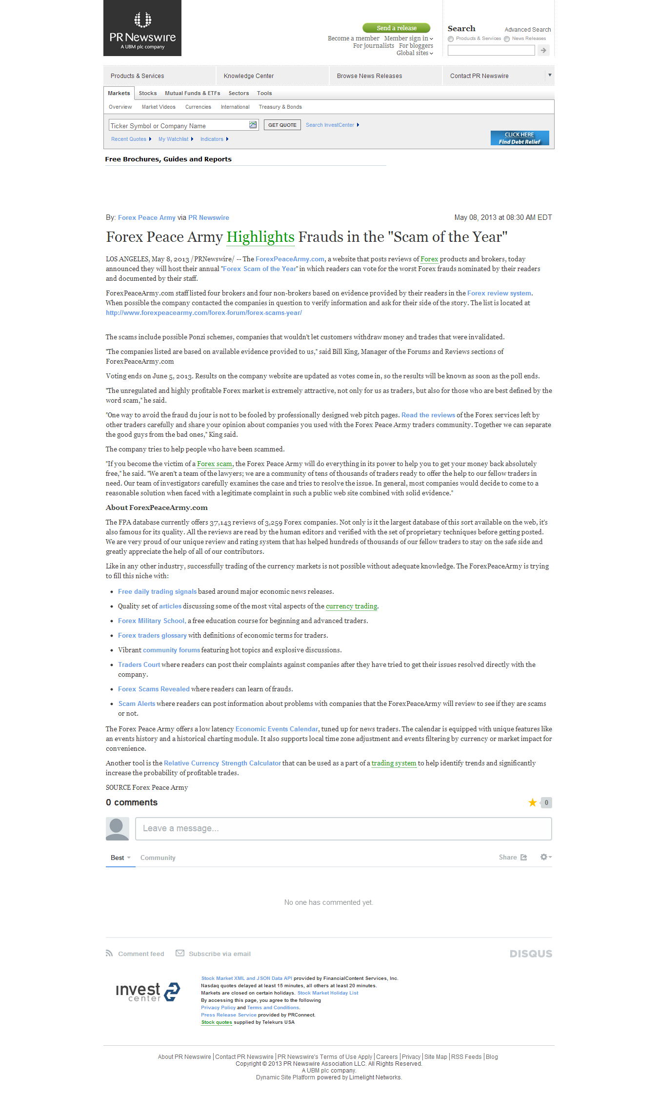 Forex Peace Army   FinancialContent – PR Newswire