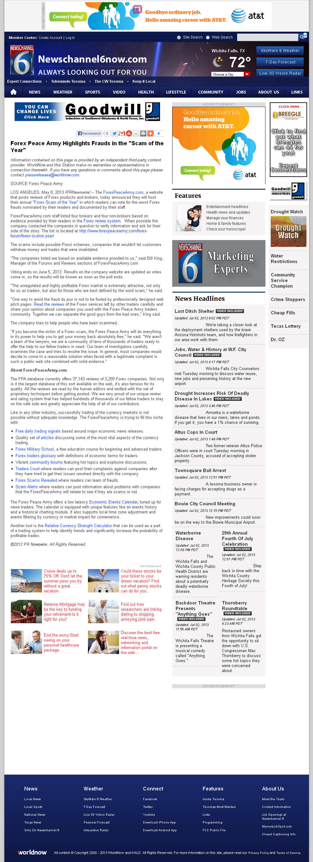 Forex Peace Army | KAUZ-TV CBS-6 (Wichita Falls, TX)