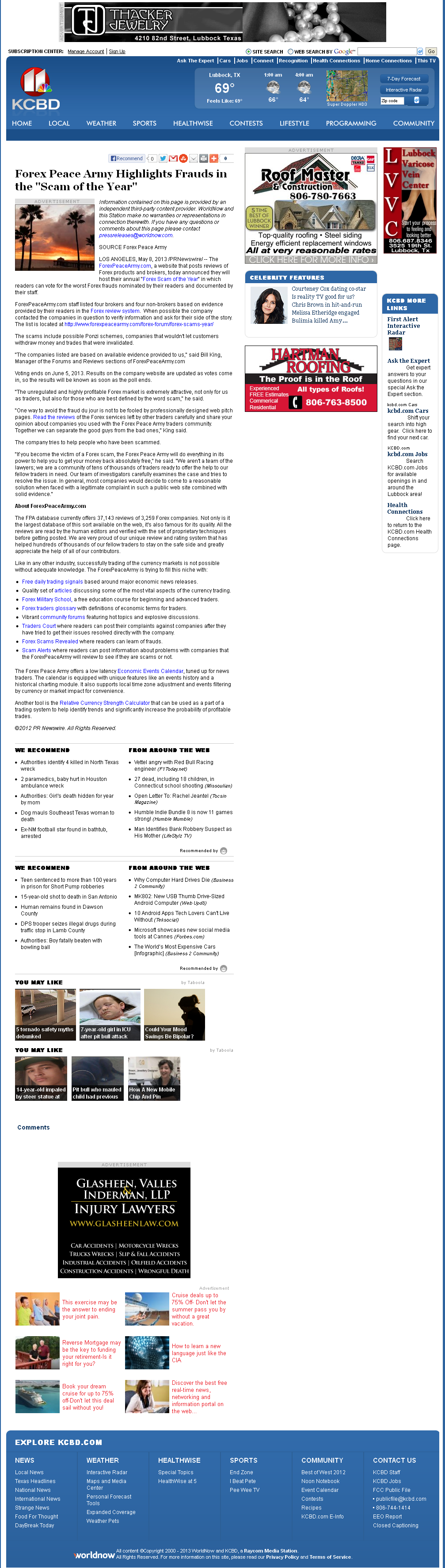 Forex Peace Army | KCBD NBC-11 (Lubbock, TX)