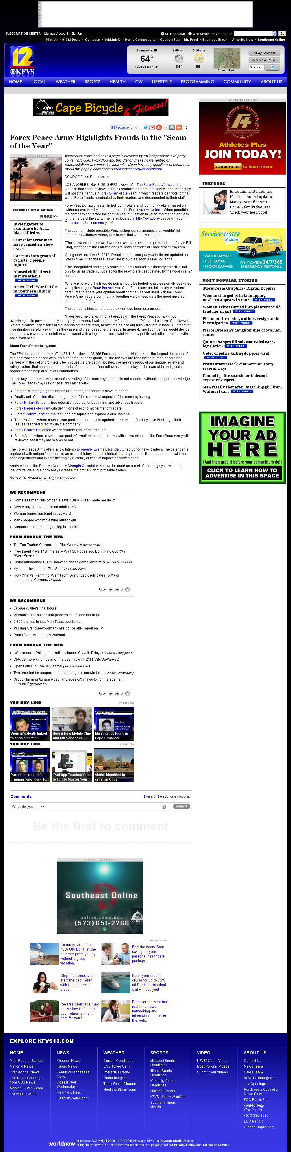 Forex Peace Army | KFVS CBS-12 (Cape Girardeau, MO)