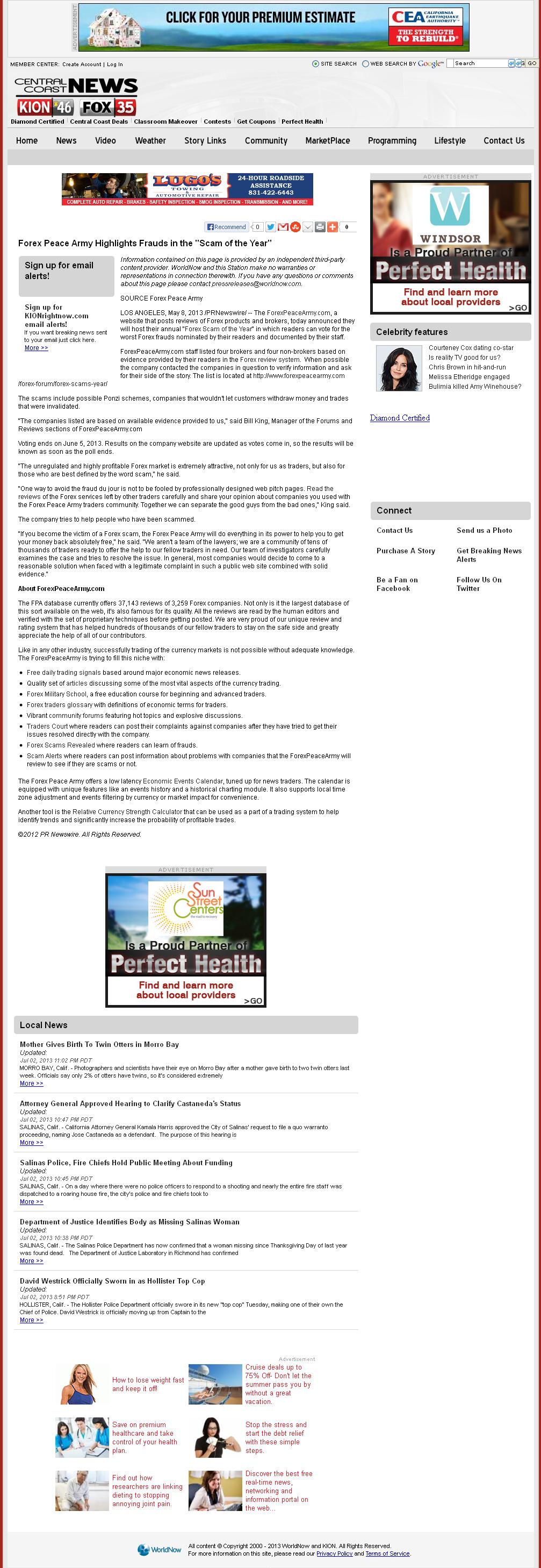 Forex Peace Army | KION CBS-46 (Salinas, CA)