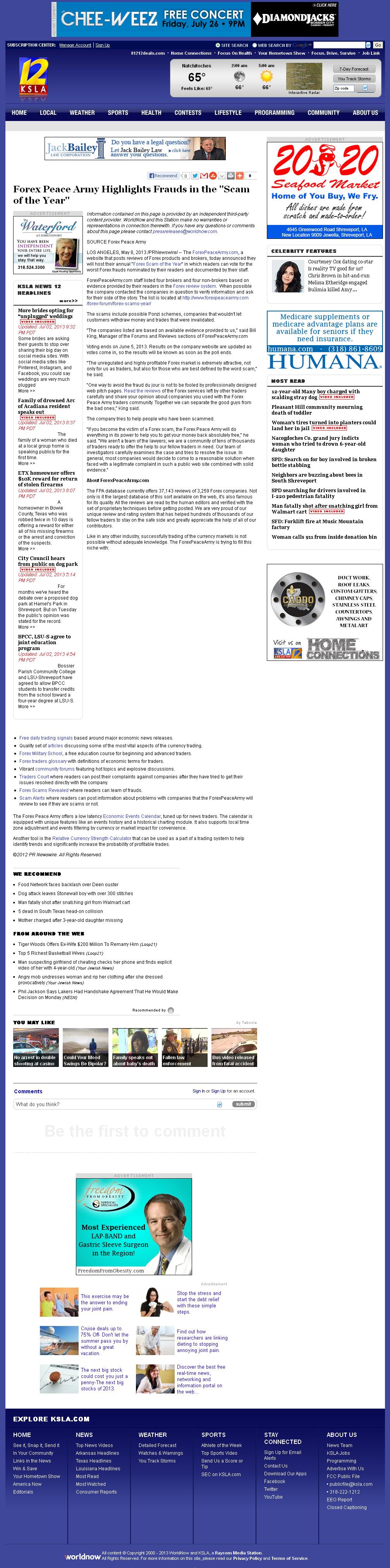 Forex Peace Army | KSLA CBS-12 (Shreveport, LA)