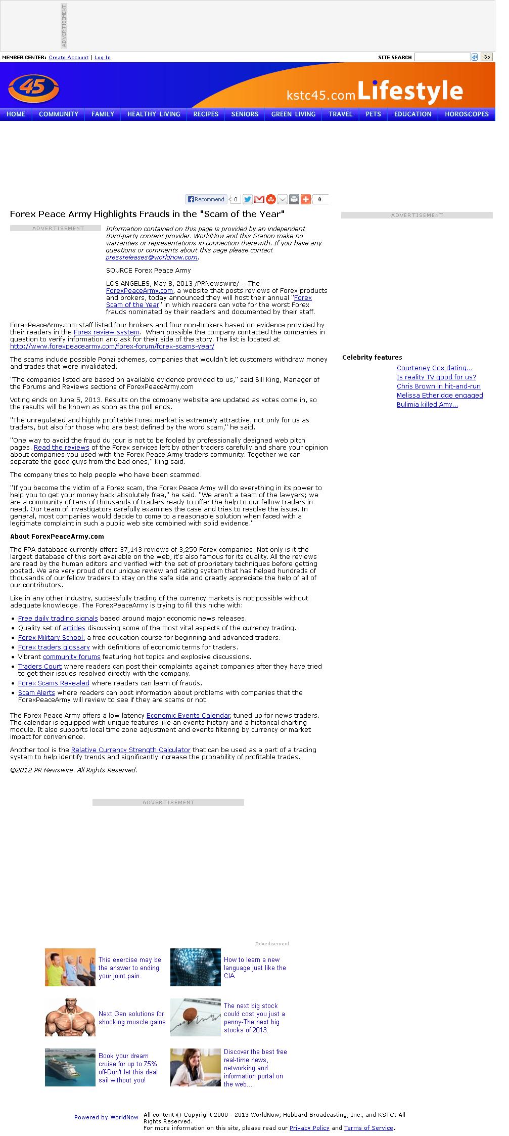 Forex Peace Army | KSTC-TV IND-45 (Saint Paul, MN)