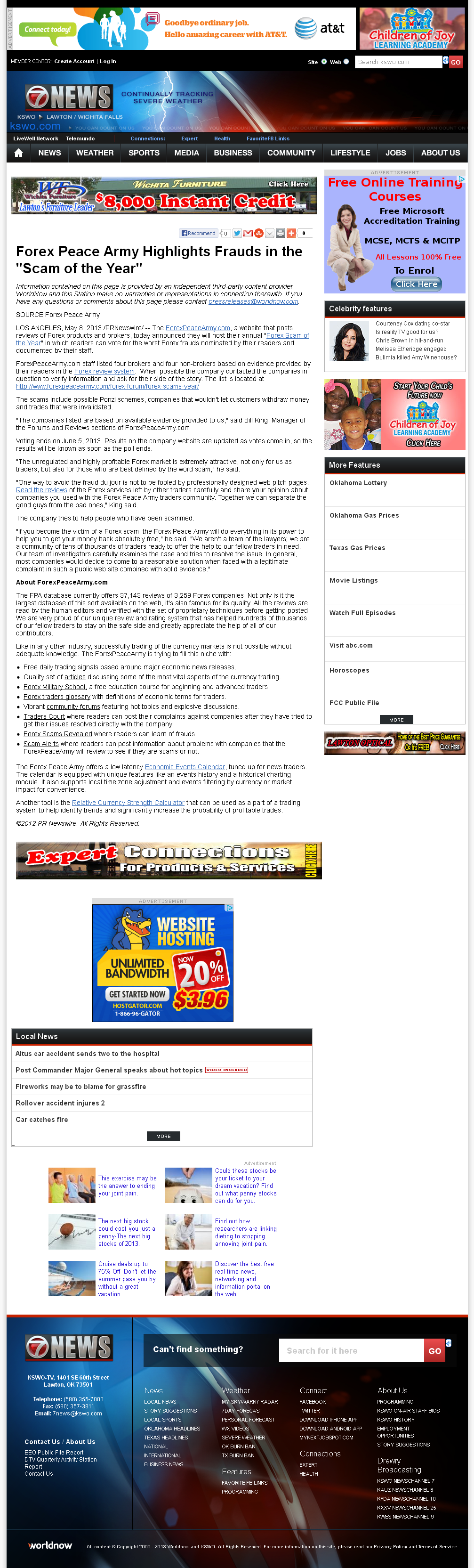 Forex Peace Army | KSWO-TV ABC-7 (Lawton, OK)