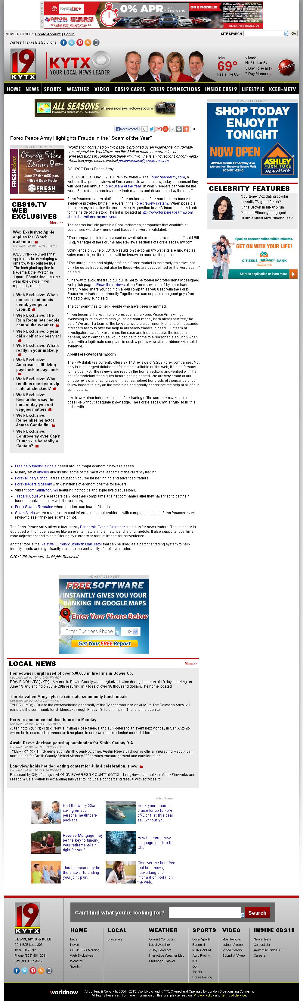 Forex Peace Army | KYTX CBS-19 (Tyler, TX)