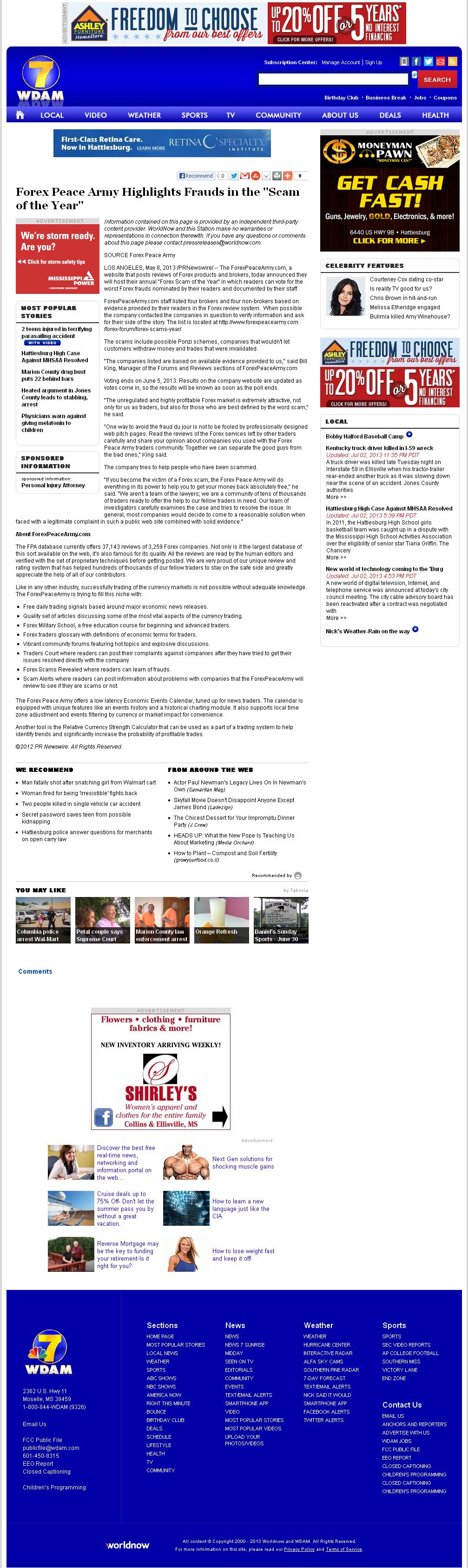 Forex Peace Army | WDAM NBC-7 (Hattiesburg-Laurel, MS)