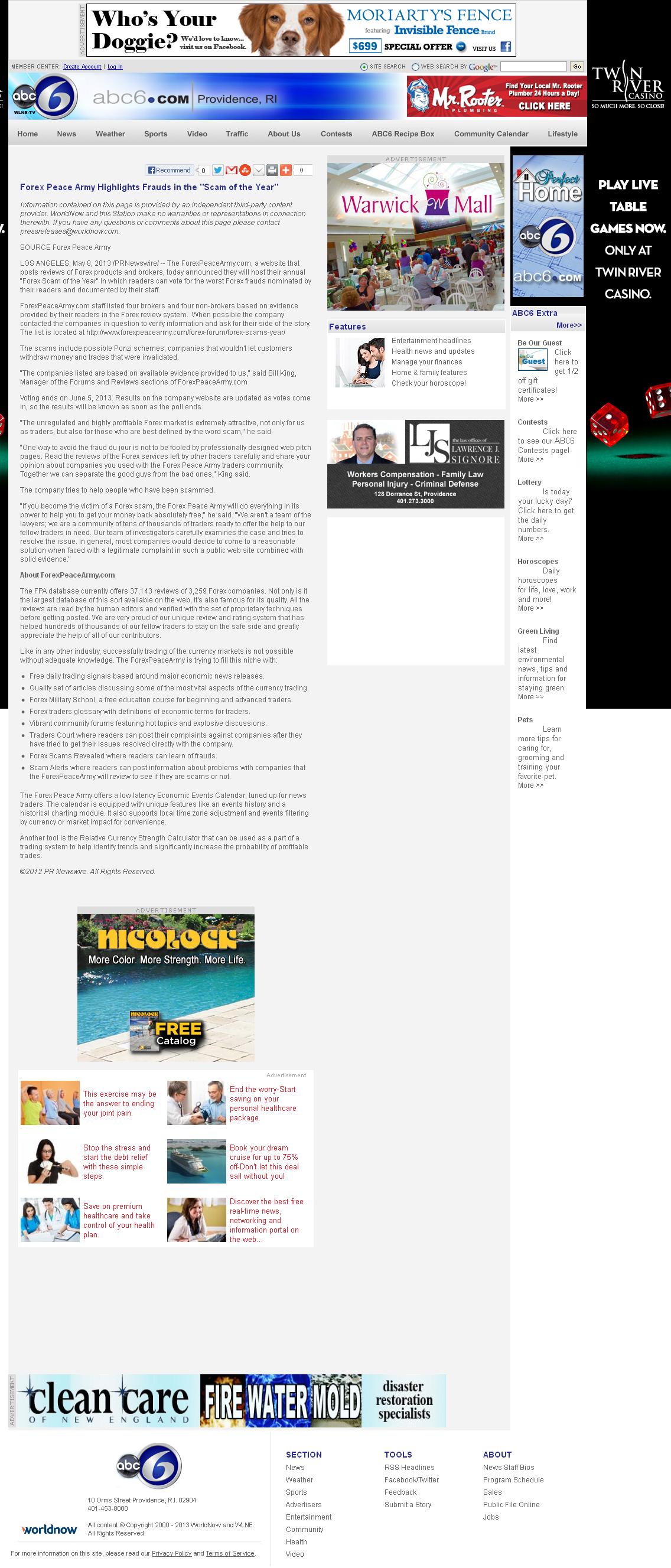 Forex Peace Army | WLNE-TV ABC-6 (Providence, RI)