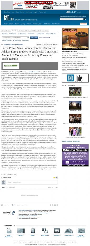 Dmitri Chavkerov - Belleville News-Democrat - Consistent Money