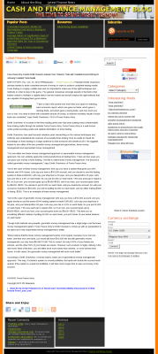 Dmitri Chavkerov -  Cash and Finance Management Blog  - Consistent Money