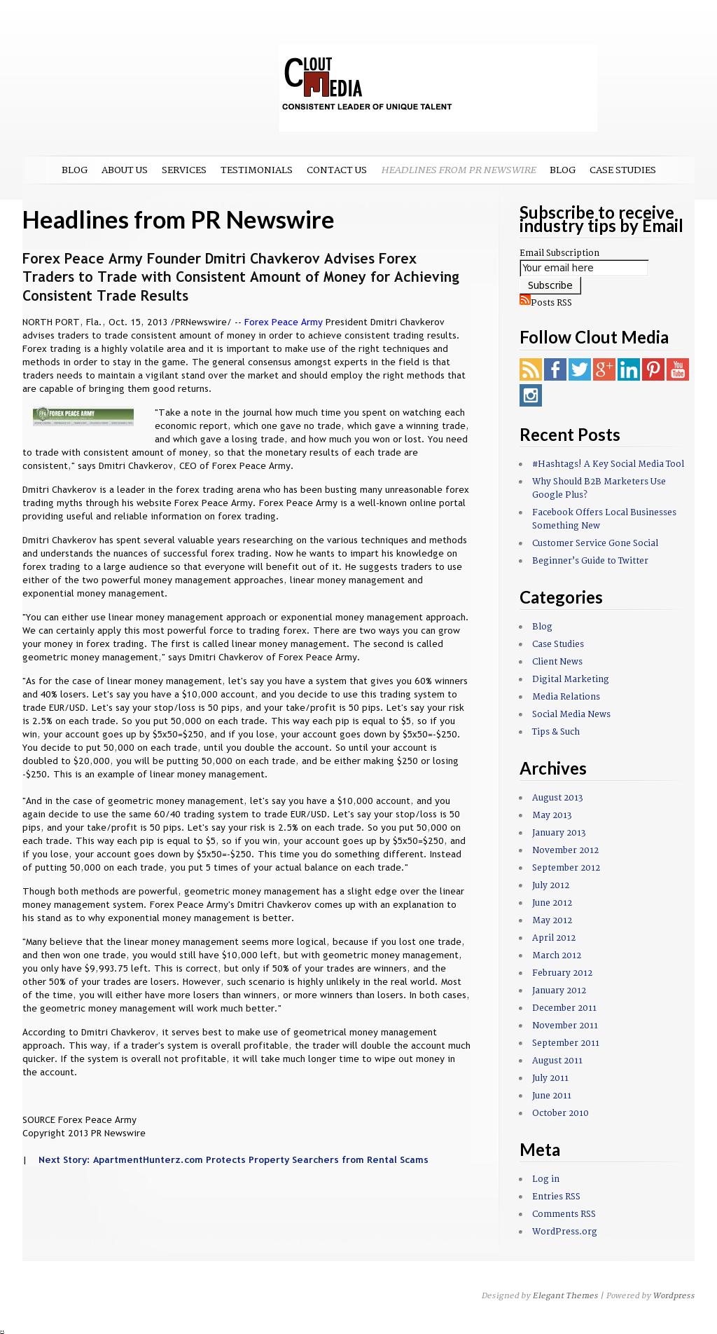 Dmitri Chavkerov - Clout Media - Consistent Money