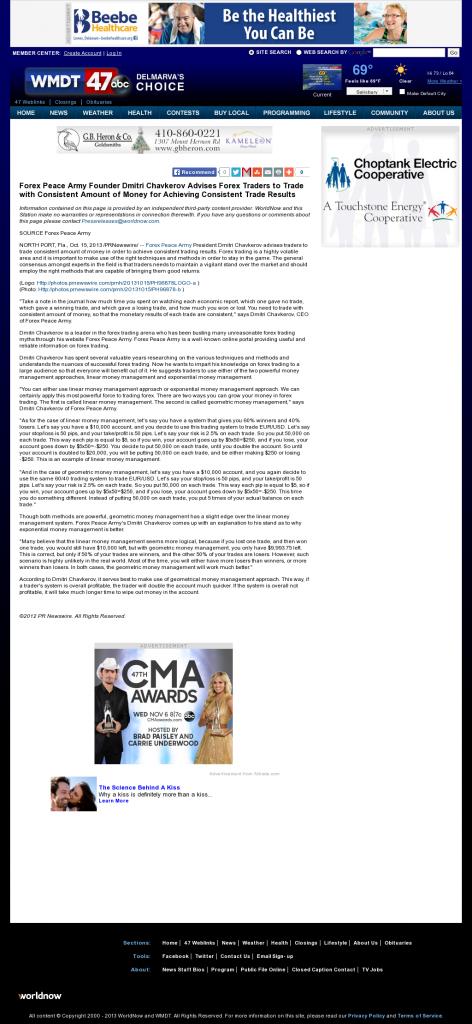 Dmitri Chavkerov - WMDT-TV ABC-47 /CW-3 (Salisbury, MD) - Consistent Money