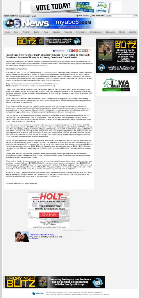 Dmitri Chavkerov - WOI ABC-5 (West Des Moines, IA) - Consistent Money
