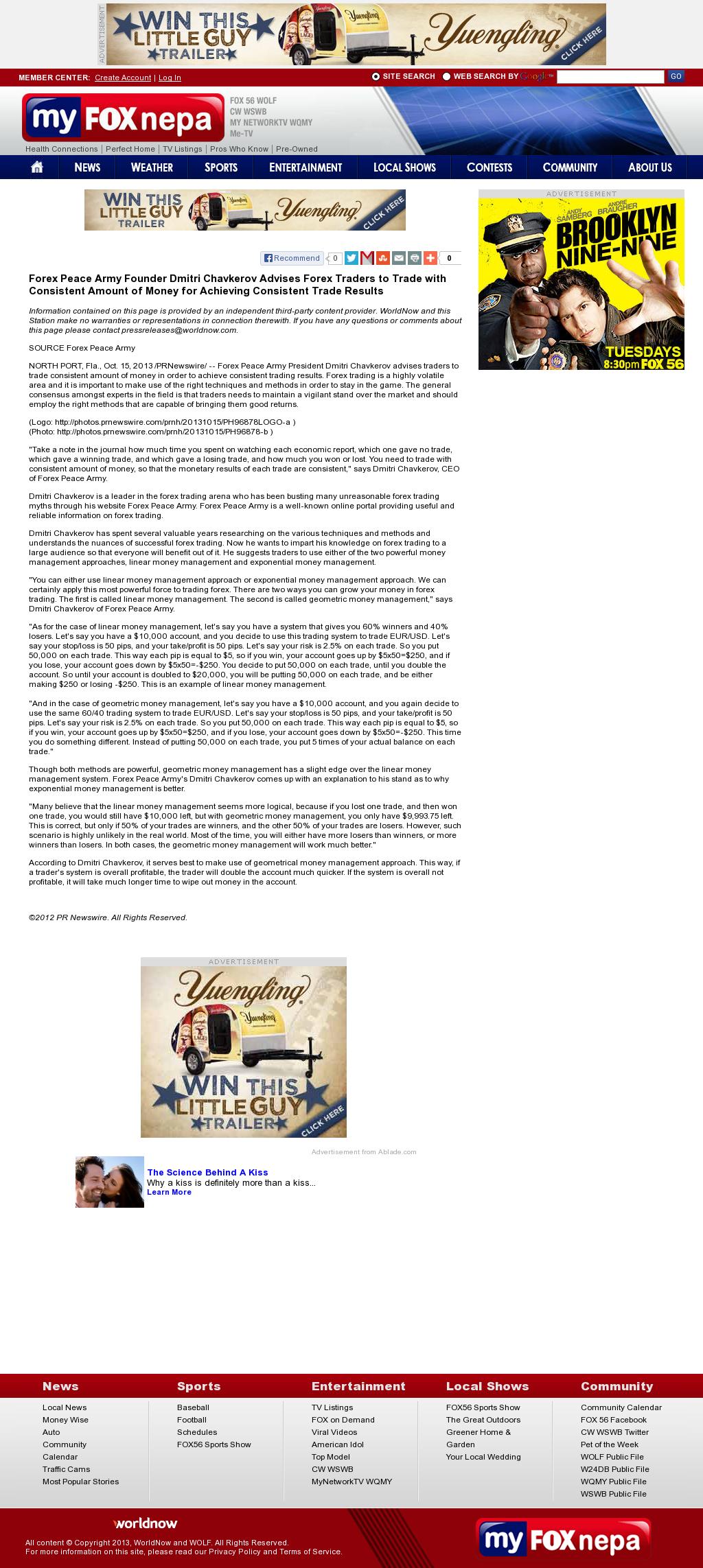 Dmitri Chavkerov - WOLF-TV FOX-56 (Wilkes-Barre, PA) - Consistent Money