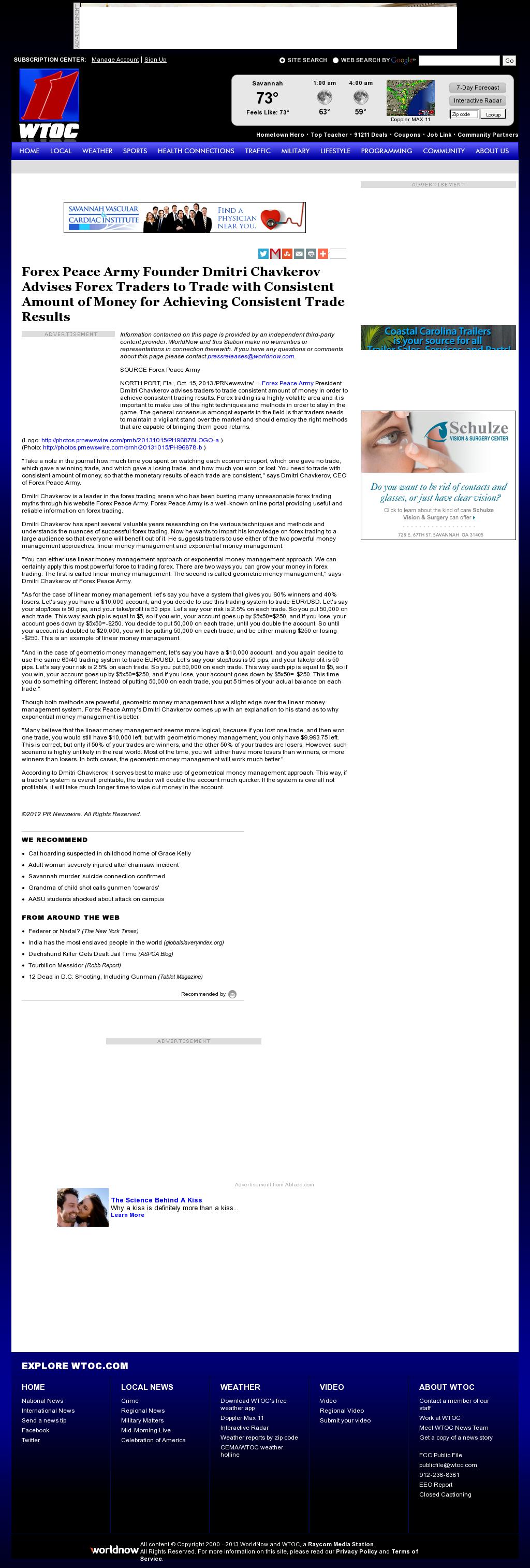 Dmitri Chavkerov - WTOC CBS-11 (Savannah, GA) - Consistent Money