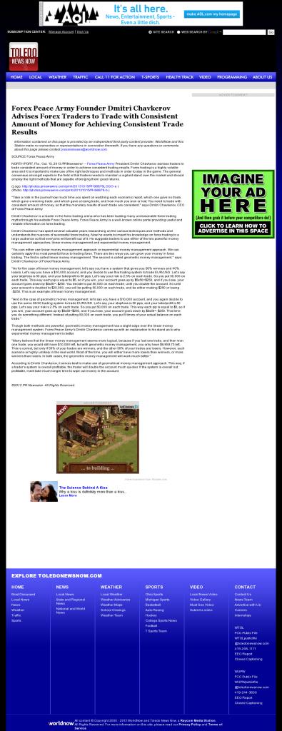 Dmitri Chavkerov - WTOL CBS-11 (Toledo, OH) - Consistent Money