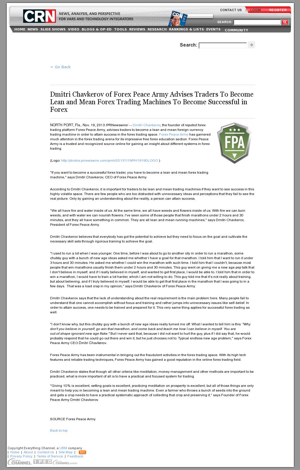 Dmitri Chavkerov - CRN - Lean Forex Trading