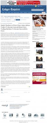 Dmitri Chavkerov -  Columbus Ledger-Enquirer (Columbus, GA)  - Lean Forex Trading
