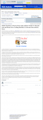Dmitri Chavkerov -  Inland Valley Daily Bulletin (Ontario, CA)  - Lean Forex Trading