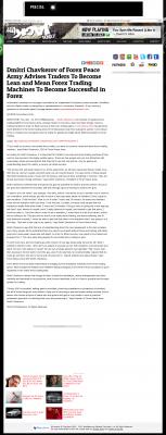 Dmitri Chavkerov -  KFMB 100.7 Jack-FM (San Diego, CA)  - Lean Forex Trading