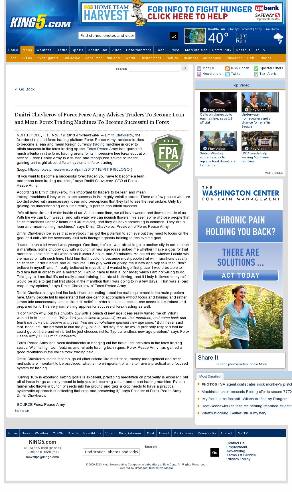 Dmitri Chavkerov - KING-TV NBC-5 (Seattle, WA) - Lean Forex Trading