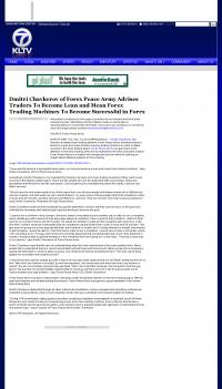 Dmitri Chavkerov -  KLTV ABC-7 (Tyler, TX)  - Lean Forex Trading