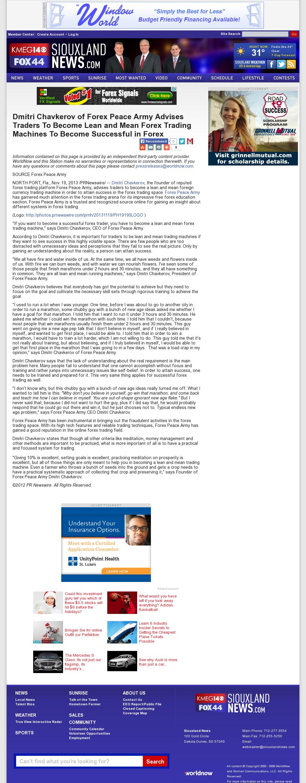 Dmitri Chavkerov - KMEG-TV CBS-14 (Sioux City, IA) - Lean Forex Trading