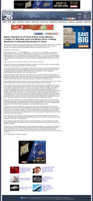 Dmitri Chavkerov -  KMPH-TV FOX-26 (Fresno, CA)  - Lean Forex Trading