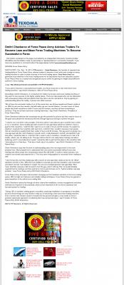 Dmitri Chavkerov -  KTEN NBC-10 (Denison, TX)  - Lean Forex Trading