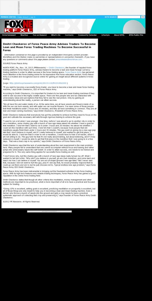 Dmitri Chavkerov - KTVG-TV FOX-17 / KSNB-TV FOX-4 (Kearney, NE) - Lean Forex Trading