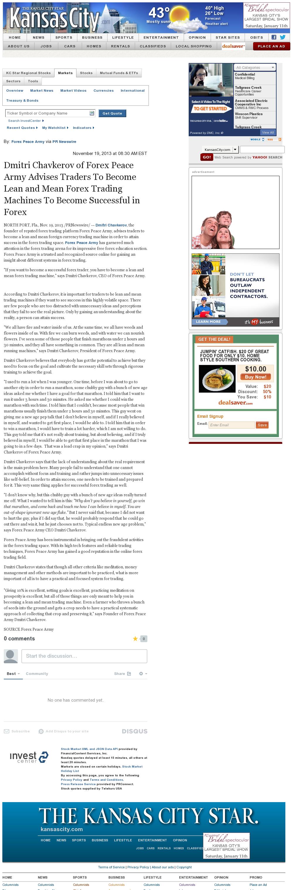 Dmitri Chavkerov - Kansas City Star - Lean Forex Trading