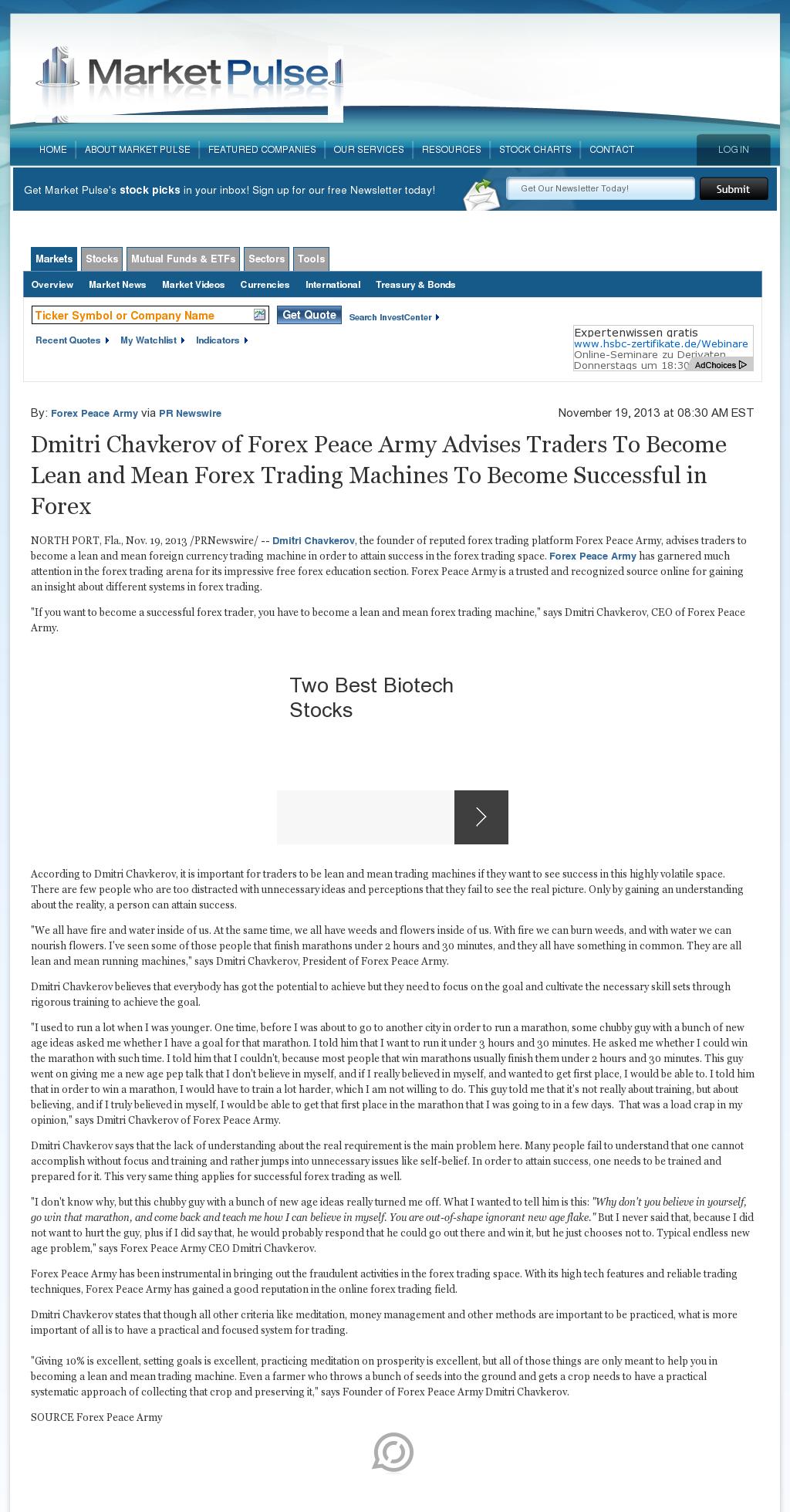 Dmitri Chavkerov - Market Pulse - Lean Forex Trading