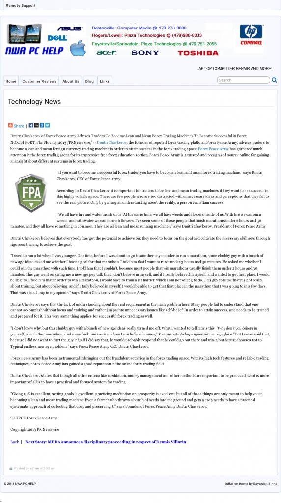 Dmitri Chavkerov - NWA PC Help - Lean Forex Trading