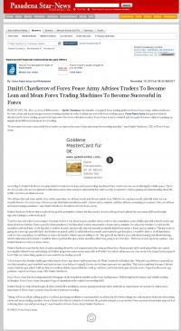 Dmitri Chavkerov -  Pasadena Star-News (Pasadena, CA)  - Lean Forex Trading