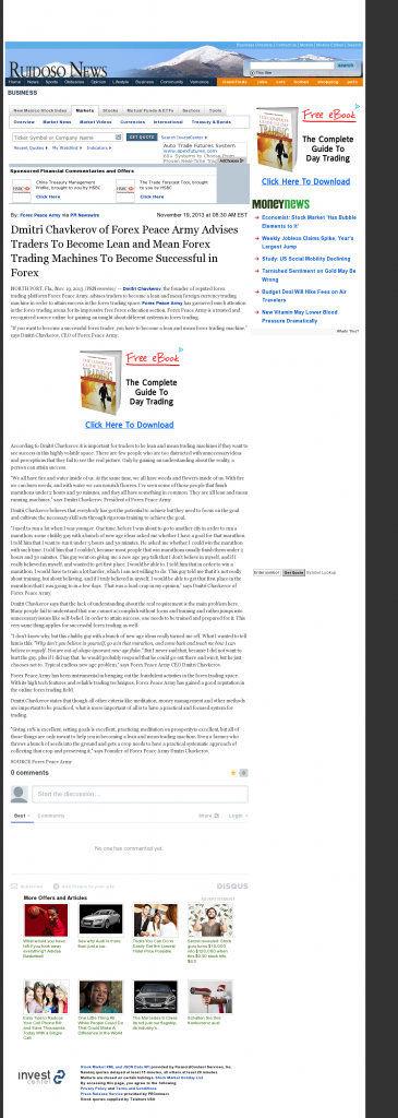 Dmitri Chavkerov - Ruidoso News (Ruidoso, NM) - Lean Forex Trading