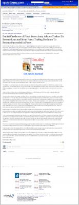 Dmitri Chavkerov -  San Gabriel Valley Tribune  - Lean Forex Trading
