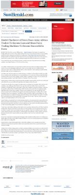 Dmitri Chavkerov -  Sun Herald (Biloxi, MS)  - Lean Forex Trading