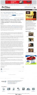 Dmitri Chavkerov -  The State (Columbia, SC)  - Lean Forex Trading