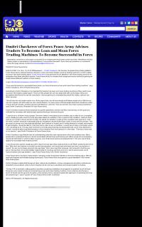 Dmitri Chavkerov -  WAFB CBS-9 (Baton Rouge, LA)  - Lean Forex Trading