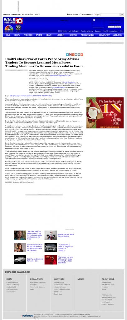 Dmitri Chavkerov - WALB NBC-10 (Albany, GA) - Lean Forex Trading