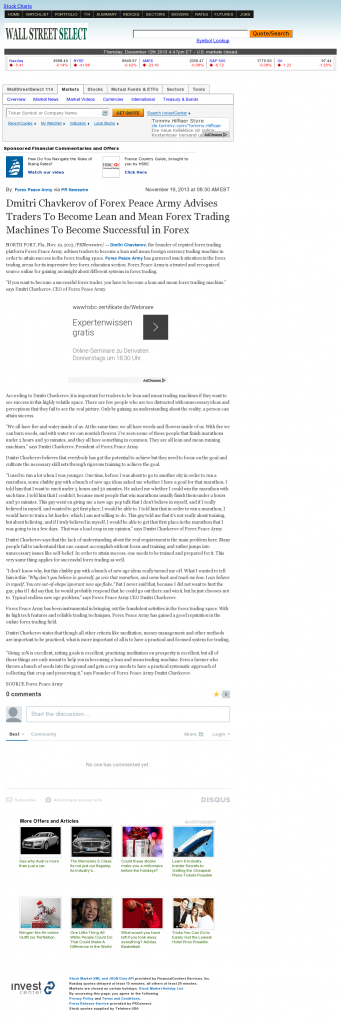 Dmitri Chavkerov - Wall Street Select - Lean Forex Trading